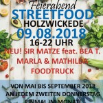 Streetfoodmarkt am 09. August 2018 Programm